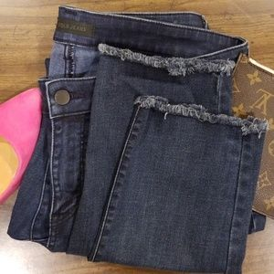 UNIQLO skinny distressed tapered jeans